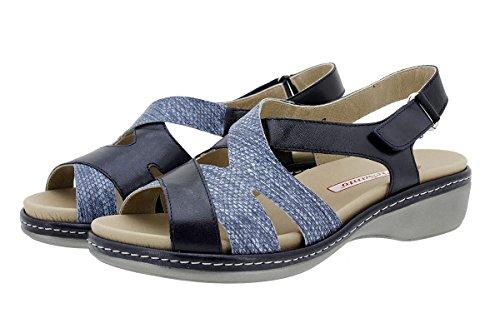 Femme Confort Piel 180813 Marino À Sandales Piesanto Chaussure Amovible Semelle 84Y0vfq
