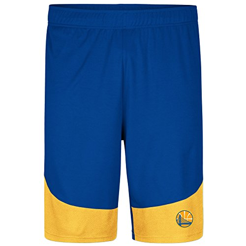 Profile Big & Tall NBA Golden State Warriors Poly Logo Short, Royal/Gold, X-Large/Tall -