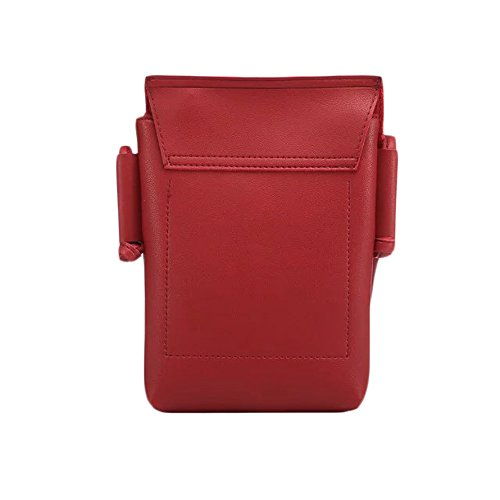 LefRight-Red-Roomy-Pockets-Soft-PU-Leather-Small-Crossbody-Cell-Phone-Purse-Wallet-Bag-for-iPhone-7-Plus