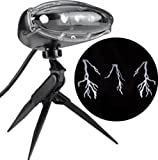 Gemmy Lightshow Projection Thunderbolt Lightning Stake Light Projector with Sound for Halloween!