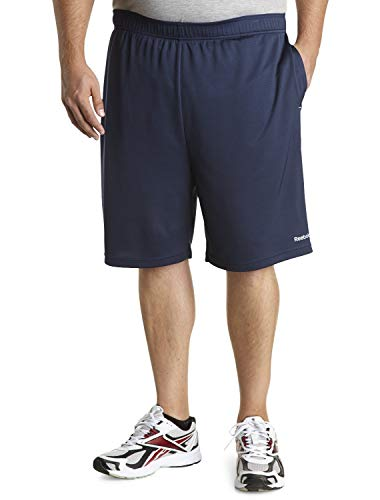 Reebok Bay Big & Tall Play Dry Tech Shorts Navy
