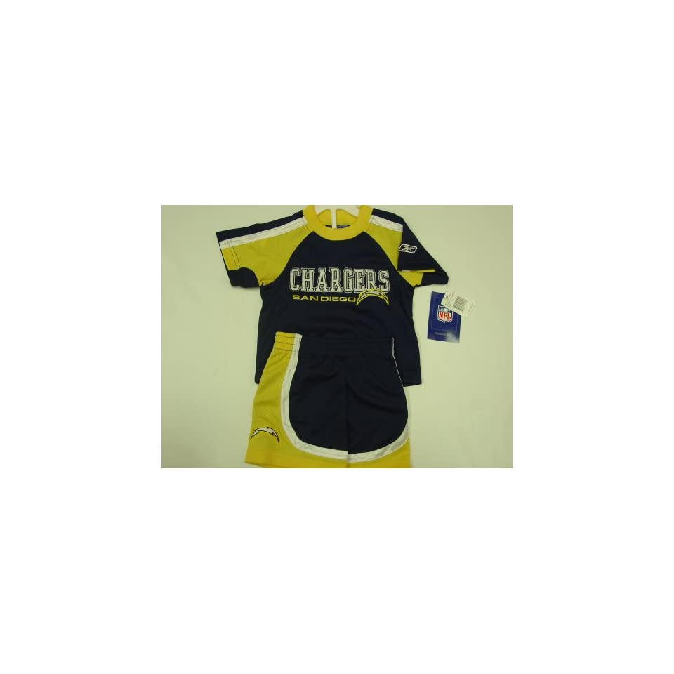 San Diego Chargers NFL 2pc JERSEY SHORT SET 2T Sports