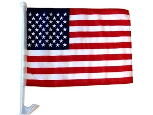 Mission Flags American US Car Window Flags Clip On Perfect for Car Auto Sales - Sold by The Dozen