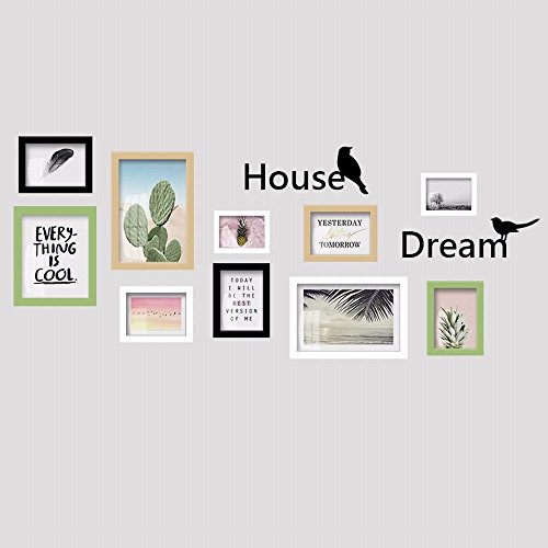 WUXK Photo wall frame wall creative combination living room wall frames the Nordic European modern minimalist photo wall,5 by WUXK