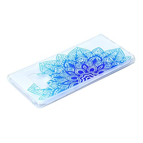 purple Tpu Fleur Galaxy Protecteur Silicone Pour Butterfly Bleue Housse Samsung Bonroy 9 Note Coque demi Étui PBRdqfq