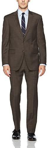 Tommy Hilfiger Men's Wool Stretch Ready to Wear Suit W/Hemmed Pant