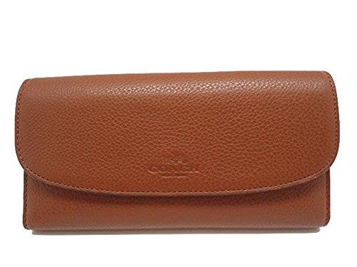 Coach Pebble Leather Checkbook