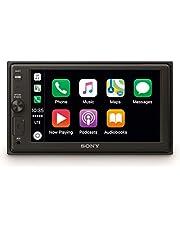 Sony XAV-AX1000 Media Receiver voor in de Auto, Touchscreen 6,2 Inch, met Bluetooth en Apple Carplay, Zwart