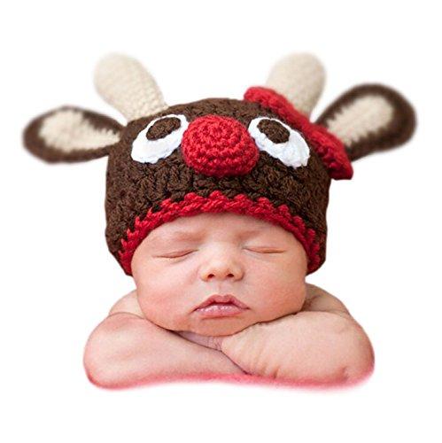 Samgu Bebé de Navidad Beanie Crochet Hat Winter Cap Newborn Props: Amazon.es: Ropa y accesorios