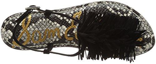 Sam Edelman Gela - Sandalias de tobillo Mujer Negro - Schwarz (E2537L2001 GELA BLACK KID SUEDE)