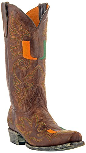 NCAA Miami Hurricanes Mens Gameday Boots Brass mMNIYkqAJ