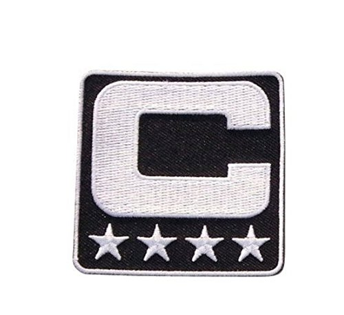 Black Captain C Patch sewing On for Jersey Football, Baseball. Soccer, Hockey jersey