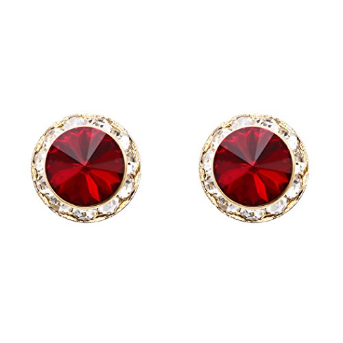 Red And Gold Tone Earrings - 8