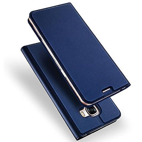Samsung Galaxy C5 Case, SKIN Pro Series GANGXUN Layered Dandy, Flip Cover Kickstand, Anti-shock Full Body Protection, TPU Bumper Case for Samsung Galaxy C5 SM-C5000 (Deep (Zj Sm)