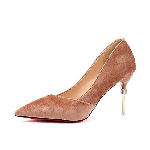 printemps mode chaussures femmes talon bouche taille pour mince 3 3 profonde Couleur sexy simples peu haut LBDX 36 hauts chaussures pointu talons w0gYqC6Cx