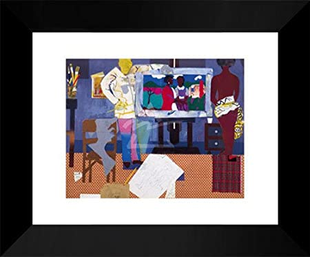 Profile//Part II The Thirties Artist with Painting and Model Romare Bearden 8x10
