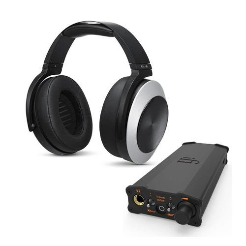 AUDEZE EL-8 Titanium Magnetic Planar Closed-Back Headphones with Integrated Apple Cipher Cable and Built-in Mic - With iFi micro iDSD Black Label Edition by Audeze