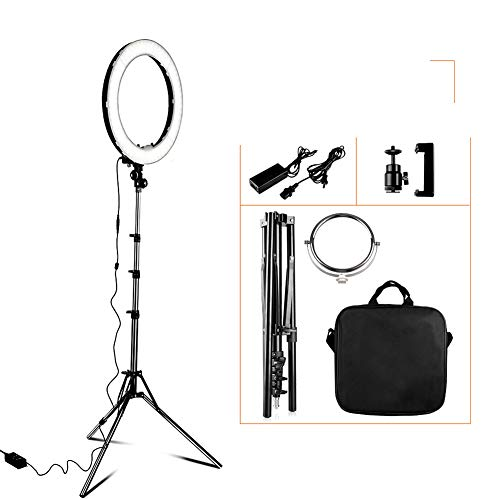 Egg Egg Ring Light 18 Inch Dimmable 5500K LED Ring Lamp with Tripod Circular Photo Lamp for Studio Photography Light Ring YouTube Live