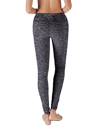 Yoga Reflex - Yoga Pants for Women - Fitness Yoga Pant Leggings - Back Pocket (From XS to 2XL) , Navy , Small