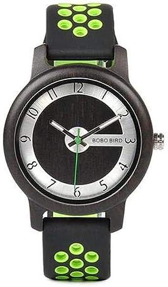 Reloj Sport W-R11 DE Madera Y Silicona Bobo Bird ESPAÑA 2019: Amazon.es: Relojes