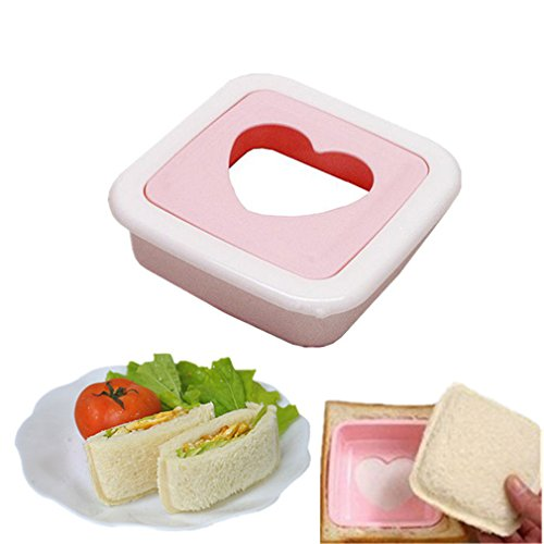 1pcs Heart Shape Sandwich Toast Bread Cake Maker Mold Cutter Cake DIY Tools for Babies Girls Lovers Breakfast by TheBigThumb
