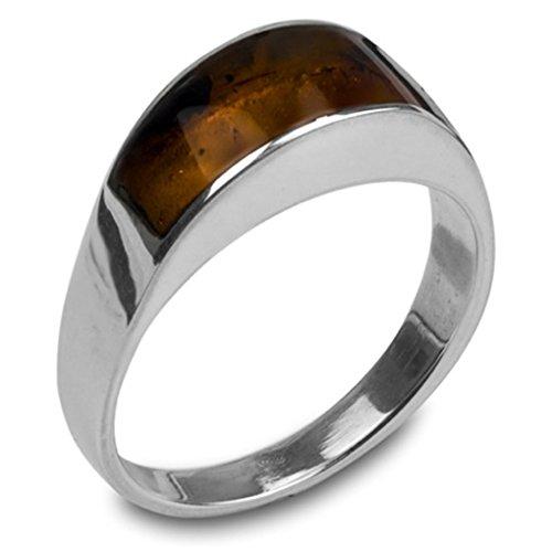 Mens Amber Ring - 7