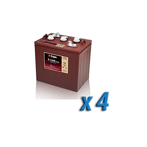 Trojan - Battery Pack 24V Photovoltaïque Accumulation 4 x T-105 225Ah 6V Trojan - T-105x4