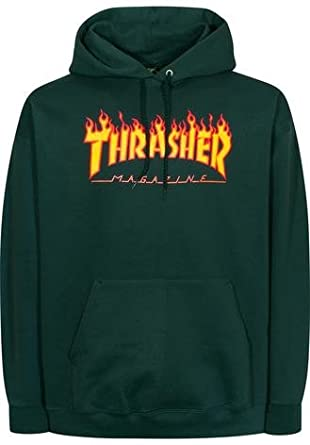 THRASHER - Sudadera con Capucha - para Hombre Verde Bosque M: Amazon.es: Ropa y accesorios