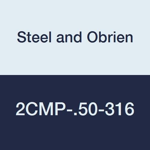 Steel and Obrien 2CMP-.50-316 Stainless Steel Clamp, 90 degree Elbow, 1/2