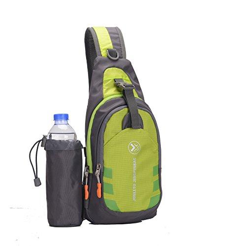 Waterproof Nylon Travel Mountaineering Leisure Hiking Bag Green - 3