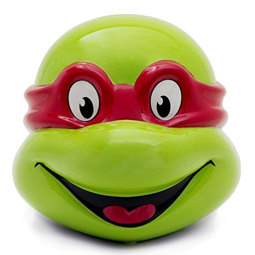 [Teenage Mutant Ninja Turtles Raphael Head Ceramic Bank] (Raphael Ninja Turtles)
