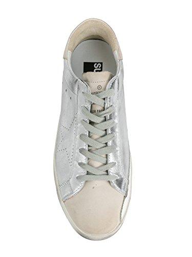Golden Goose Mænd G32ms590e68 Sølv Læder Sneakers 1OgJtLJ