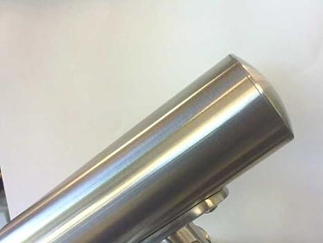 MISURA 42,4x2,6 TAPPO INOX AISI 304 LEGGERMENTE BOMBATO