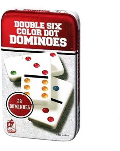 DARK DIAMOND® - Domino Colorido Especial Slim para niños y Adultos. Edición Viaje con Caja de Metal para Mayor protección y Extra Fino.: Amazon.es: Juguetes y juegos