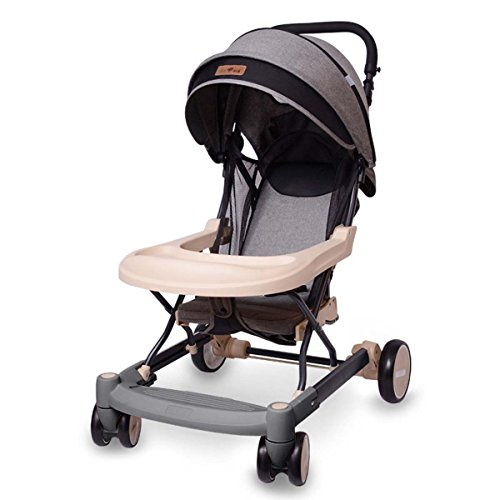 Walker Anti Shock Single - GONGFF Baby Walker Trolley Adjustable Looking Children Baby Can Be Sit Reclining Simple Ultra Light Stroller Baby Stroller Stroller,#1