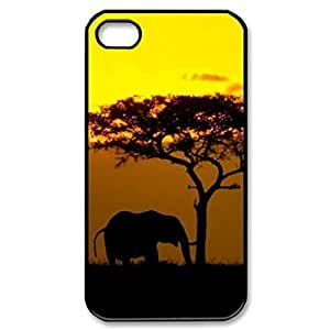 Elephant Sunset Africa Image Protective Iphone 5s / Iphone 5 Case Cover Hard Plastic Case for Iphone 5 5s