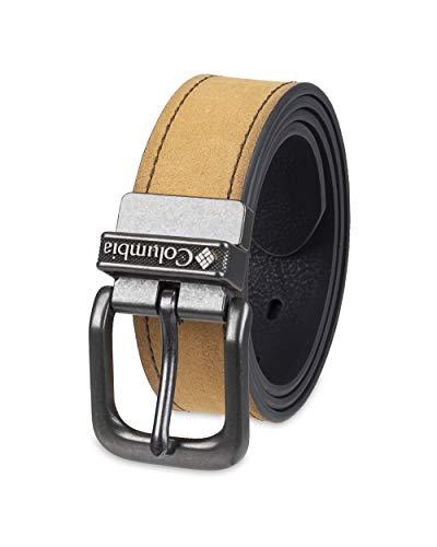 (Columbia Men's Reversible Belt, brown/black, Medium (36-38))
