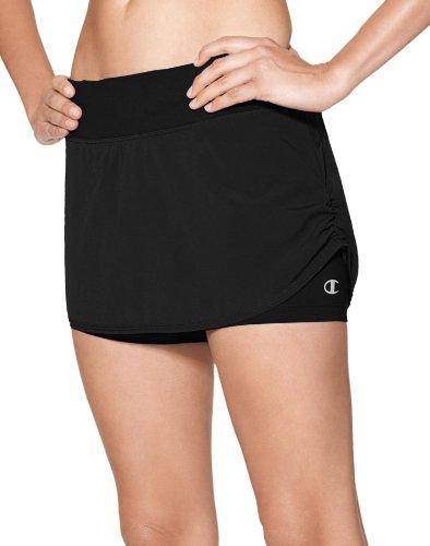 Champion Women`s PerforMax® Skirt With Inner Bike Short,M7402,M,Black