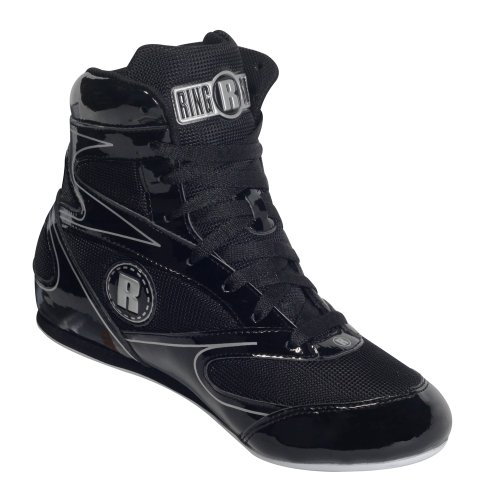 Ringside 3/4 Top Boxing Shoe (Black, 10)
