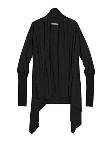 Icebreaker Womens Sweater - Icebreaker Women's Sydney Wrap, Black/Black, Large