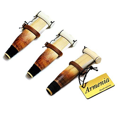 SET of 3 Semi-Professional ARMENIAN DUDUK REEDS key A - handmade Ramish Oboe Balaban Woodwind Instrument - Mey Ney