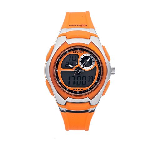 Sector Street Fashion R3251172038 38mm Stainless Steel Case Orange Plastic Mineral Women's Watch