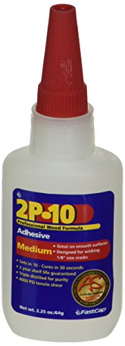 FastCap 80113 2P-10 Professional 2 Ounce Medium Wood Adhesive - 2 Activator Ounce