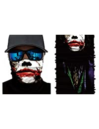 Happy Rocker Bandana Tube Face Mask Shield Insane Joker Headband