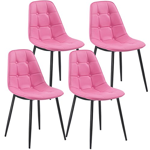 Remarkable Giantex Set Of 4 Dining Chair Pu Leather Armless Metel Leg Gmtry Best Dining Table And Chair Ideas Images Gmtryco