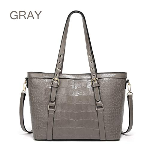 Handbag Casual Crossbody Large Pu Gray Leather gpfq4W4A