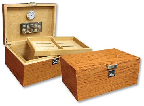 Prestige Import Group - Princeton Wood Spanish Cedar Humidor - Color: Bubinga Burlwood