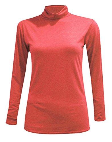 Maniche Maglione Basic Coral Donna lunghe Look Glossy PRSxwnt
