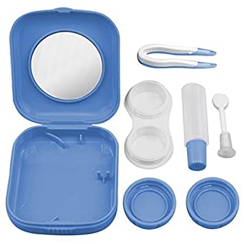 Eyewear Accessories Lower Price with Mini Mirror Contact Lens Travel Kit Easy Carry Case Storage Holder Container Box