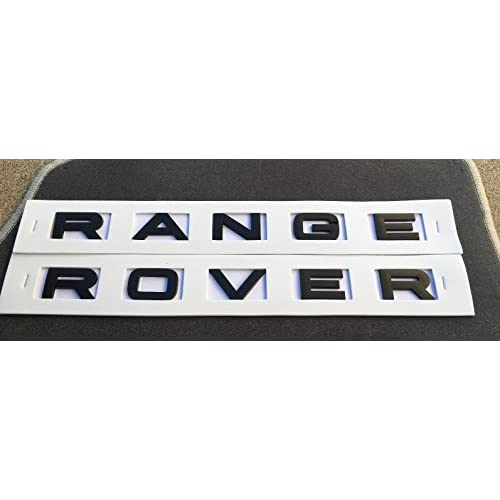gosweet neuf noir mat pour range rover lettres capot ou coffre tailgate embl me plaque. Black Bedroom Furniture Sets. Home Design Ideas